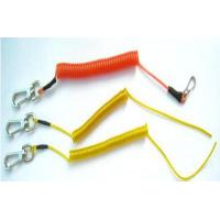 China Colorful Plastic safe string holder coiled lanyard tether with heavy duty hooks wholesale