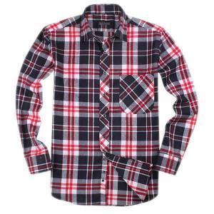100% cotton yarn dyed flannel men's long sleeve soft collar fashion shirts