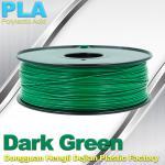 China OEM Biodegradable PLA  1.75 / 3.0 mm 3D Printer Filaments ( Dark Green ) wholesale