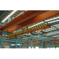 China High Speed Double Girder Overhead Crane With Magnet For Lifting Iron / Steel Blocks wholesale