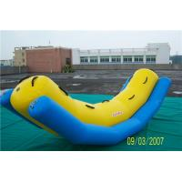 China Swimming Pool Inflatable Water Games Equipment Blow Up Banana Boat For Rides wholesale