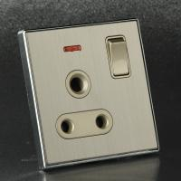 China British Type BS546 15Amp 3-Pin Rount Plug Electrical Power Socket on sale