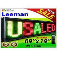 China Outdoor Programmable LED Signs Multi Language , Wireless LED Scrolling Message Display Board wholesale