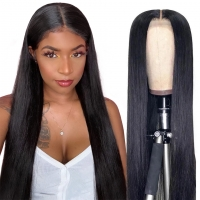 China 250% Density 13x6 HD Lace Frontal Wig Bone Straight Human Hair For Black Women wholesale