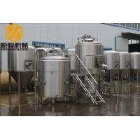 Quality Plate Heat Exchanger Commercial Beer Making Equipment 10BBL Brewhouse Specs for sale