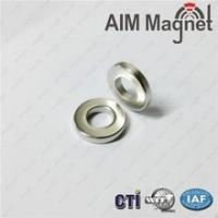 China Find the more details D12xd3X1.2mm Ring ndfeb magnet N35 Zinc plating wholesale