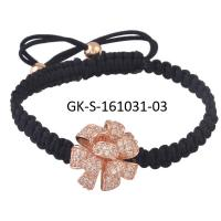 China Women's charming and shiny crystal 925 sterling silver jewellery , flower silver bracelet OEM & ODM is welcome wholesale