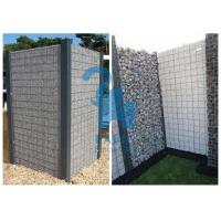 China High Speed Roads Paving Stone Cages Gabions , 4pcs Metal Clips Gabion Fence Panels wholesale