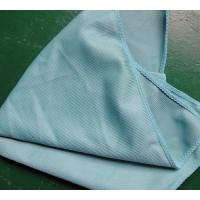 China 40 * 40cm 260gsm Microfiber Glass Cleaning Cloth Green Thick Fashinable Soft wholesale