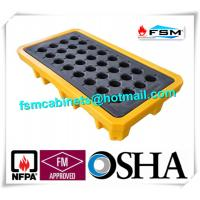 Quality Polyethylene Spill Containment Pallets With Drains For Oil Drums / Chemical Barrels for sale
