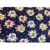 China Blue Polyester Floral Custom Printed Fabrics Tear Proof Customized wholesale