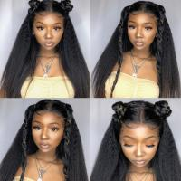 """China Smooth 22"""" Yetta Lace Front Human Hair Wigs wholesale"""