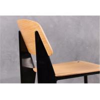 China Metal Frame Modern Wood Dining Chairs , Armless Dining Room Side Chairs wholesale
