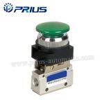 3 Way 2 Position Pneumatic Valve MSV86321PB , Round Green Button Mechanical Air