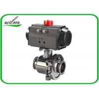 China Tri Clamp Sanitary Ball Valves With Aluminum Pneumatic Actuator , Non Retention wholesale