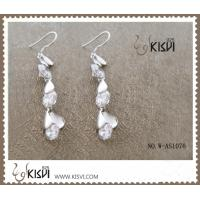 China OEM & ODM 925 sterling silver gemstone earrings with competitive price  W-AS1076 wholesale
