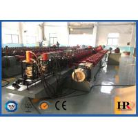 China Full Automatic Steel Door Frame Roll Forming Machine With Hydraulic Cutting wholesale