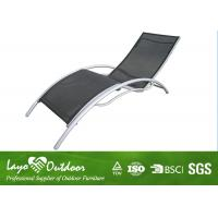 China Heavy Duty Patio Sun Loungers Folding Beach Chairs 2 X 2 Sling Fabric wholesale