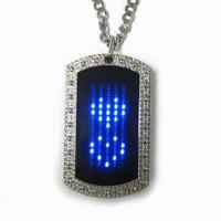 Buy cheap 2015 new fashion led name tag necklace from wholesalers