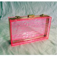 Quality Red Retangle Woman Acrylic Box Clutch Bag for Wedding Party for sale