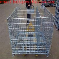China storage folding galvanized mesh storage cage/1.20m*1.0m*0.89m storage fold cage from 100% really factory wholesale