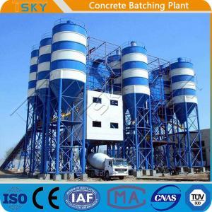 China Belt Feeding HZS180 Stationary Concrete Batching Plant wholesale
