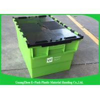 China Transportation Turnover Box / Industrial Storage Containers with Plastic Attached Lid wholesale