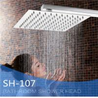 China Ultra Thin Stainless Steel Shower Head , Square Rainfall Shower Head Angle Adjustable wholesale