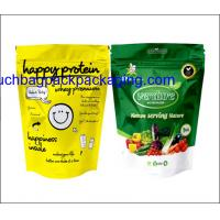 China Color printing plastic food packaging bag, stand up pack pouch for food on sale