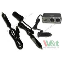 China iPad 24V 12V DC Power Cable 2 USB / 2 DC Socket Cigarette Lighter Adapter wholesale