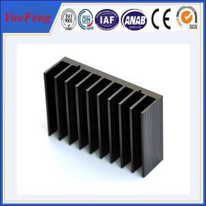 China Black anodized aluminum extrusion profile supplier, supply aluminum radiator extrusion wholesale