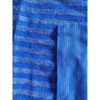 China 160cm Width Warp Knitting Blue Eight Grid Microfiber Cleaning Cloth SGS wholesale