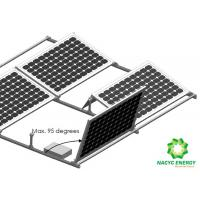 China Lightweight Rust Resistance Aluminum Structure Solar Bracket  Flat Roof Ballasted Mounting Systems Anodized Finishing wholesale