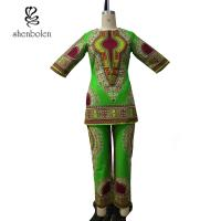 China Spring And Summer african attire jumpsuits / Sexy Maxi african print overalls wholesale