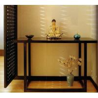 China 5 Star Hotel Lobby Solid Wood Console Table Walnut  Veneer Reception Table wholesale