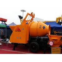 China Mobile Diesel Portable Hydraulic Trailer Mounted Concrete Mixing Pump With Mixer wholesale