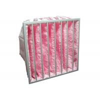 China HVAC System Glass Fiber Multi - Pocket Air Filter F6 - F8 Efficiency For Greenhouse wholesale