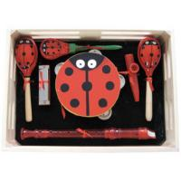 China Cartoon Kids Music Instrument Percussion Kawai Wood Toy Outfit with Wooden Box wholesale