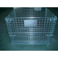 China 2000 Pounds Collapsible Wire Container Steel Mesh Storage Bins 40x 32x 33 Inch wholesale