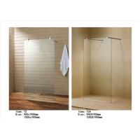 China Easy Install Walk In Shower Screen , Frameless Glass Shower Screen With Support Bar wholesale