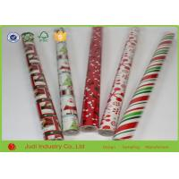 China 70cm X 300cm Double Sided Christmas Wrapping Paper Roll For Gift Package wholesale