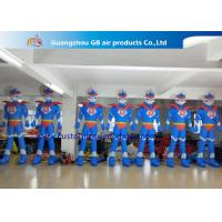 China Advertising Oxford Cloth Blue Inflatable Superman With Blower 3m High wholesale