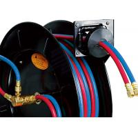 Quality Acetylene / Oxygen Air And Water Welding Hose Reel With Full Flow Swivel Joint for sale