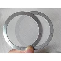 China Rimmed Stainless Steel Filter Screen Disc 70mm Diameter Reliable Filtering Precision wholesale