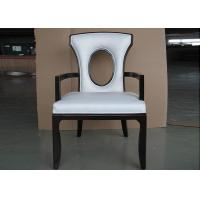 China Solid Wood Chair Modern Hotel Furniture For Restaurant with Leather Seat wholesale