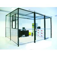 China Heavy Duty Two Sides Industrial Storage Cage , Wire Mesh Storage Lockers Full Height wholesale