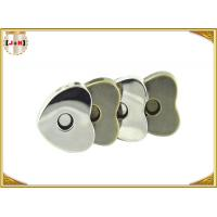 China Custom Heart Shaped Magnetic Bag Buttons Clasps Various Surface Finishes wholesale