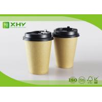 China 12oz 400ml FDA Certificated Eco-friendly Plain Kraft Brown Single Wall Paper Cups with Lids wholesale
