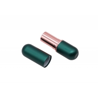 China Luxury Green Magnetic Lipstick Tubes Custom Cosmetic 3.5g Lip Balm Tubes on sale