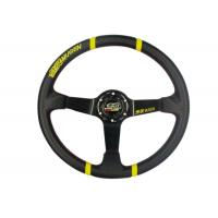 China 3 Inch Diameter Race Car Steering Wheel , Leather Steering Wheel Cover  wholesale